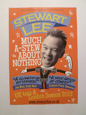 STEWART LEE MUCH A-STEW ABOUT NOTHING UK TOUR 2013 A5 THEATRE BILL FLYER