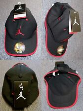 NEW Authentic Michael Jordan Air Jumpman Logo Basketball Black Cap Hat + Tag