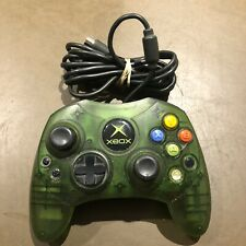 Original Xbox Wired Controller S Crystal Green Clear Official OEM Not Tested