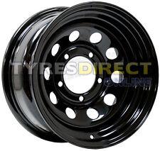 x4 15x8 BLACK MODULAR STEEL WHEELS 5x139.7 ET00 SUZUKI FITMENT