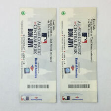 two unused BON JOVI tickets ~ Central Park All Star Concert July 12, 2008