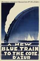 A3 A2 A1 Vintage Holiday Poster Cote D Azur /& Australia Art Deco A4 sizes