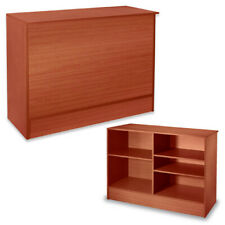 Melamine Laminated Service Counter in Cherry 48 W x 20 D x 38 H Inches