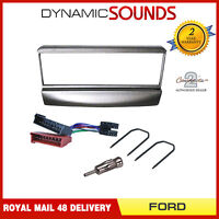 Car CD Stereo Radio Fascia / Facia Fitting KIT Silver for Ford Puma