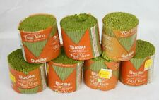 Lot 7 Vtg Bucilla Latch Hook Rug Yarn Super Spun Acrylic Celery Green 318 Precut