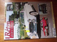 $$$ Revue Retro passion N°142 Peugeot 403AMC Pacer XCeltaquatre coupe 1935