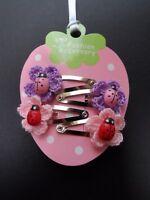 girls/baby hair clips, snap clips, slides mini/small hair clips flower ladybird