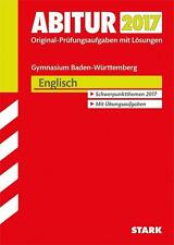 Abiturprüfung Baden-Württemberg 2017 - Englisch (2016, Taschenbuch)