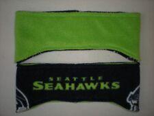 SEATTLE SEAHAWKS handcrafted NFL one (1) REVERSIBLE HEADBAND hat FLEECE green