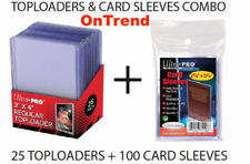Ultra Pro Top Loaders + Card Sleeves Combo 100 Soft Card Sleeves & 25 Toploaders