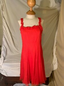 VTG Peggy Jennings Red Polka Dot Dress Size 6 WE COMBING SHIPPING❤️