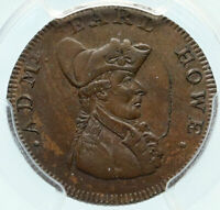 1794 ENGLAND Hampshire West Cowes ADMIRAL HOWE Conder Farthing PCGS Coin i83996