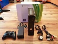 Xbox 360 s CONSOLE 250GB BOXED CONTROLLER LEADS MEMORY FREEPOST