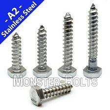 38 Stainless Steel Hex Lag Screws Lag Bolts 18 8 A2 Aka Coach Screw