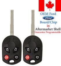 2x Original OEM Keyless Remote Key Fob Ford Escape Fiesta Transit OUCD6000022