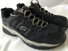 Skechers 77013 BKGY Soft Stride Grinnel Black Work Shoes Men Size 12