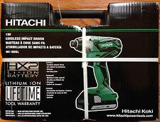 Hitachi WH18DGL 18V Li Cordless Impact Driver Kit with Hard Case NEW Priority SH