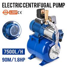 water PUMP  1.3kW booster set  hydrophore pressure TANK 100l  7500 l/h