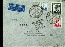 SPAIN 1935 FAMOUS PEOPLE HERITAGE 3v ON AIRMAIL COVER TO GERMANY
