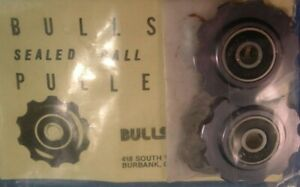 Bullseye Sealed-Bearing Pulley Wheels for Rear Derailleur-NEW 5/6/7/8/9-Spd- NIB