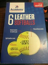 Academy Sports Leather Softballs 11 Inch Fastpitch.  6 Balls