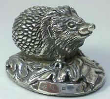 Vintage hallmarked Sterling Silver Hedgehog Figurine –1994 by Camelot Silverware