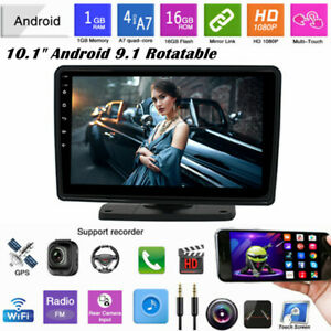 """360° Rotatable 2Din 10.1""""  Android 9.1 Car Stereo GPS WiFi MP5 Player Quad Core"""