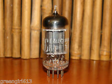 Vintage RCA 12AX7 ECC83 Long Black Plates Vacuum Tube Results = 1360/1160 #53761