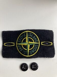Stone Island Patch / Badge + 2 Buttons