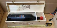 cassa di legno del vino Banfi Montalcino con  bottiglia vuota da 3 litri