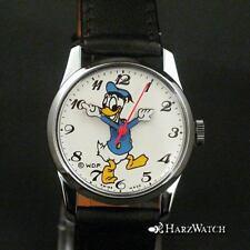 Donald Duck - ungetragene Kinderarmbanduhr Handaufzug - Walt Disney - ca. 1990