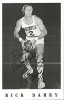 Rick Barry Signed 5.5x8.5 Promotional Photo Rockets