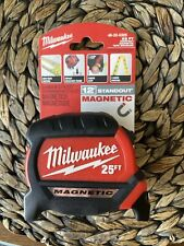 Milwaukee 25 FT Compact Magnetic Tape Measure 12' Standout 48-22-0325