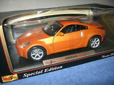 NISSAN 350Z ORANGE  1:18 MAISTO SPECIAL EDITION   OPENING HOOD DOORS & TRUNK