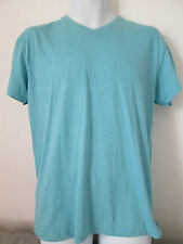 CEDARWOOD STATE - TURQUOISE V-NECK T-SHIRT Size MEDIUM