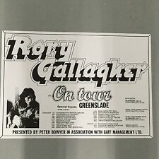 RORY GALLAGHER - CONCERT POSTER U.K. TOUR 1974 BRISTOL LEEDS GLASGOW (A3 SIZE)