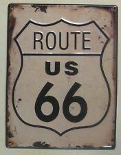 Blechschild   Route US 66 , Motivgeschnitten  33 x 25 cm
