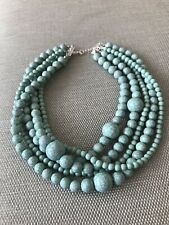 Beautiful New Layered Marble Effect Turquoise  Zara Gems Statement Necklace