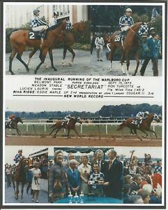 """1973 - SECRETARIAT & RIVA RIDGE - 6 Photo Marlboro Cup Composite - 8"""" x 10"""""""