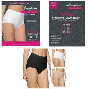 Womens Ladies Seamless Control Maxi Full Briefs Knicker Underwear Pants Comfort
