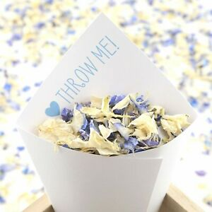 Handcrafted Throw Me! Wedding Confetti Cones 100% Recycled Set of 10 - 100