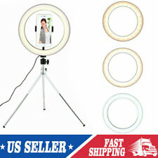 LED Ring Light Studio Photo Video Dimmable Lamp Tripod Stand Selfie Live Camera