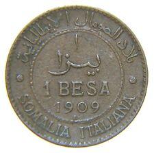 [NC] VITTORIO EMANUELE III - SOMALIA ITALIANA - 1 BESA 1909 (nc3676)