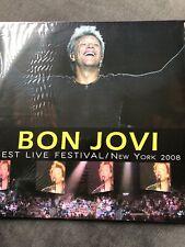 "BON JOVI - BEST LIVE FESTIVAL ""NEW YORK 2008"" RARE NEW VINYL LP"