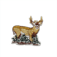 Reindeer Patch —Iron On Badge Embroidered Motif — Animal Deer Buck #396