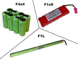 Akkupack, Hochstromzellen, 4/5A 9.6V2200 mAh, mehrere Optionen zur Auswahl ...
