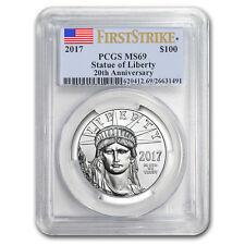 2017 1 oz Platinum American Eagle MS-69 PCGS (FS, Flag Label)