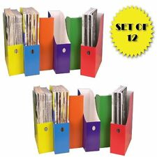 Colorful Magazine File Holders (Set Of 12), New, Free Shipping