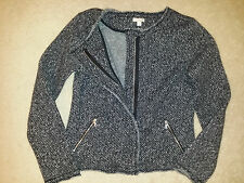 GAP Herringbone Thick Fleece Black/White Combo Front Zip Jacket - WOW Sz.Small
