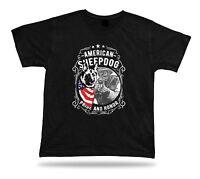 Tshirt Tee Shirt Birthday Gift Idea American Sheepdog Pride Honor Military Serve